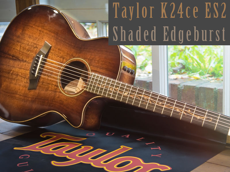 GUITAR OF THE MONTH: TAYLOR K24ce ES2 SHADED EDGEBURST image