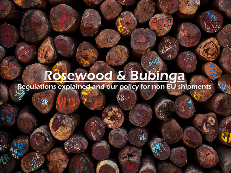 Rosewood and Bubinga: CITES Regulations image
