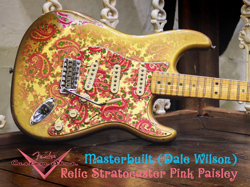 GUITAR OF THE MONTH: Fender Masterbuilt Relic Strat Pink Paisley / Gold image