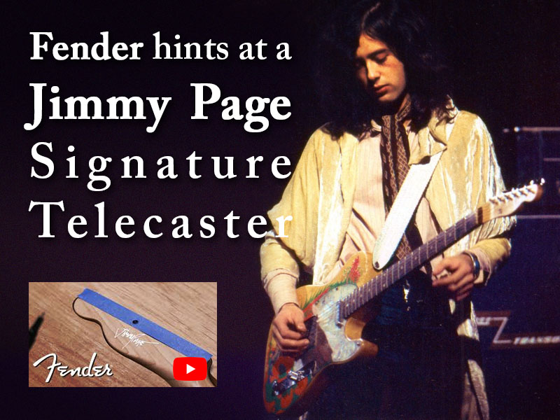Fender hints at a Jimmy Page Signature Telecaster image
