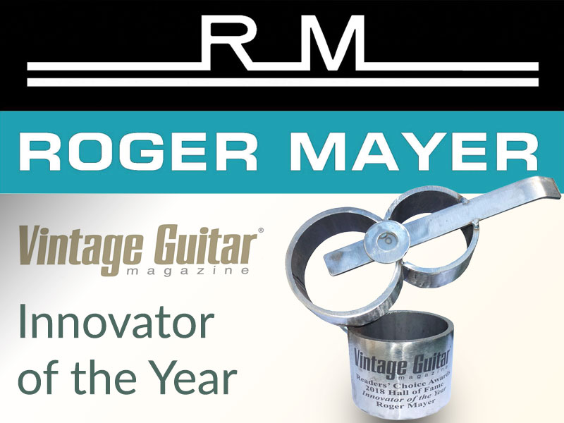 Roger Mayer awarded 'Innovator of the Year' image