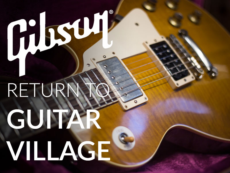 Gibson return to Guitar Village image
