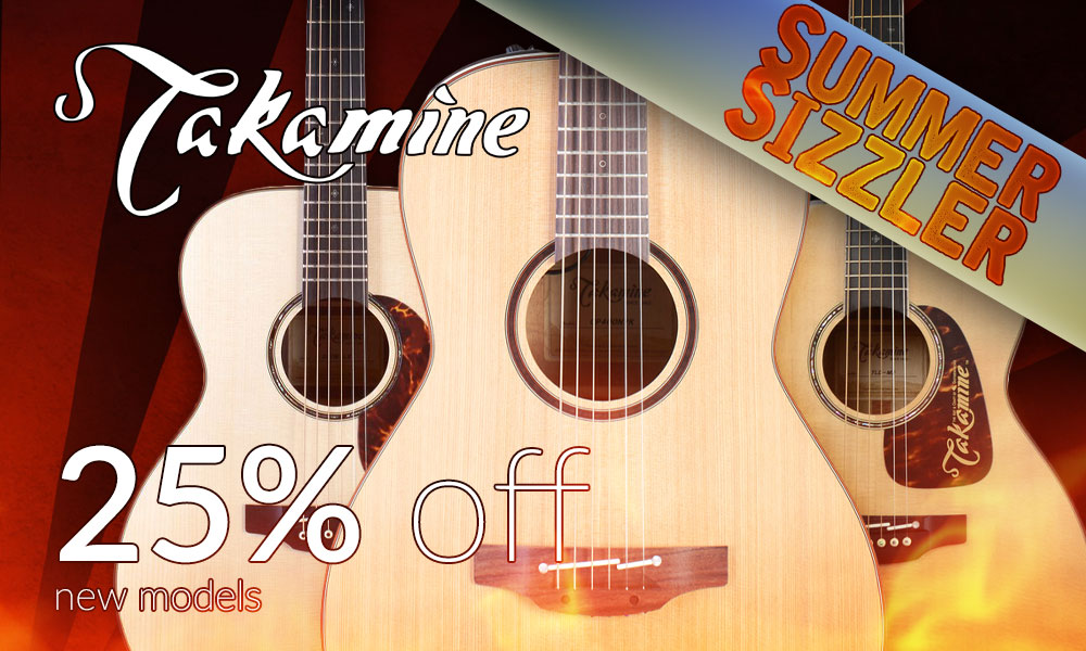 0acd68cda4 25% remaining new Takamine acoustic guitars. Buy now!